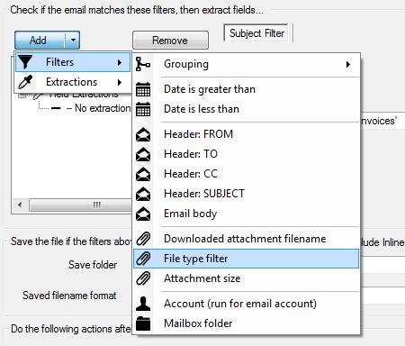 file type filter