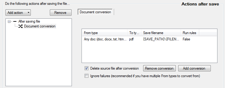 doc conversion action added