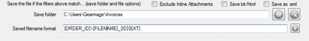 extract data - use in save filename format