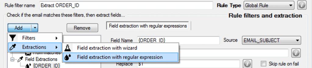 extract data - using regex